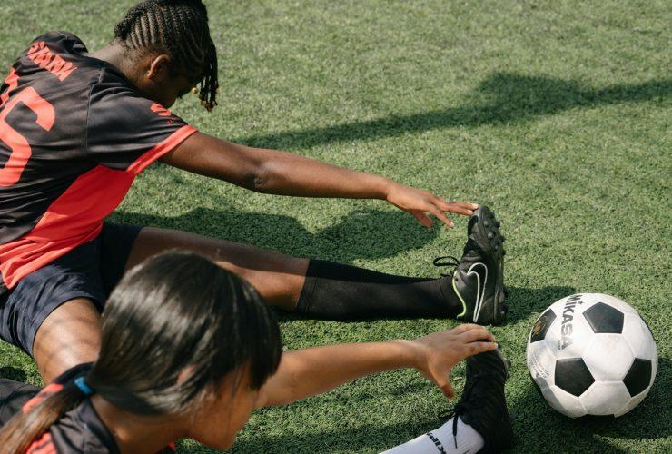 stretchen voetbaltraining